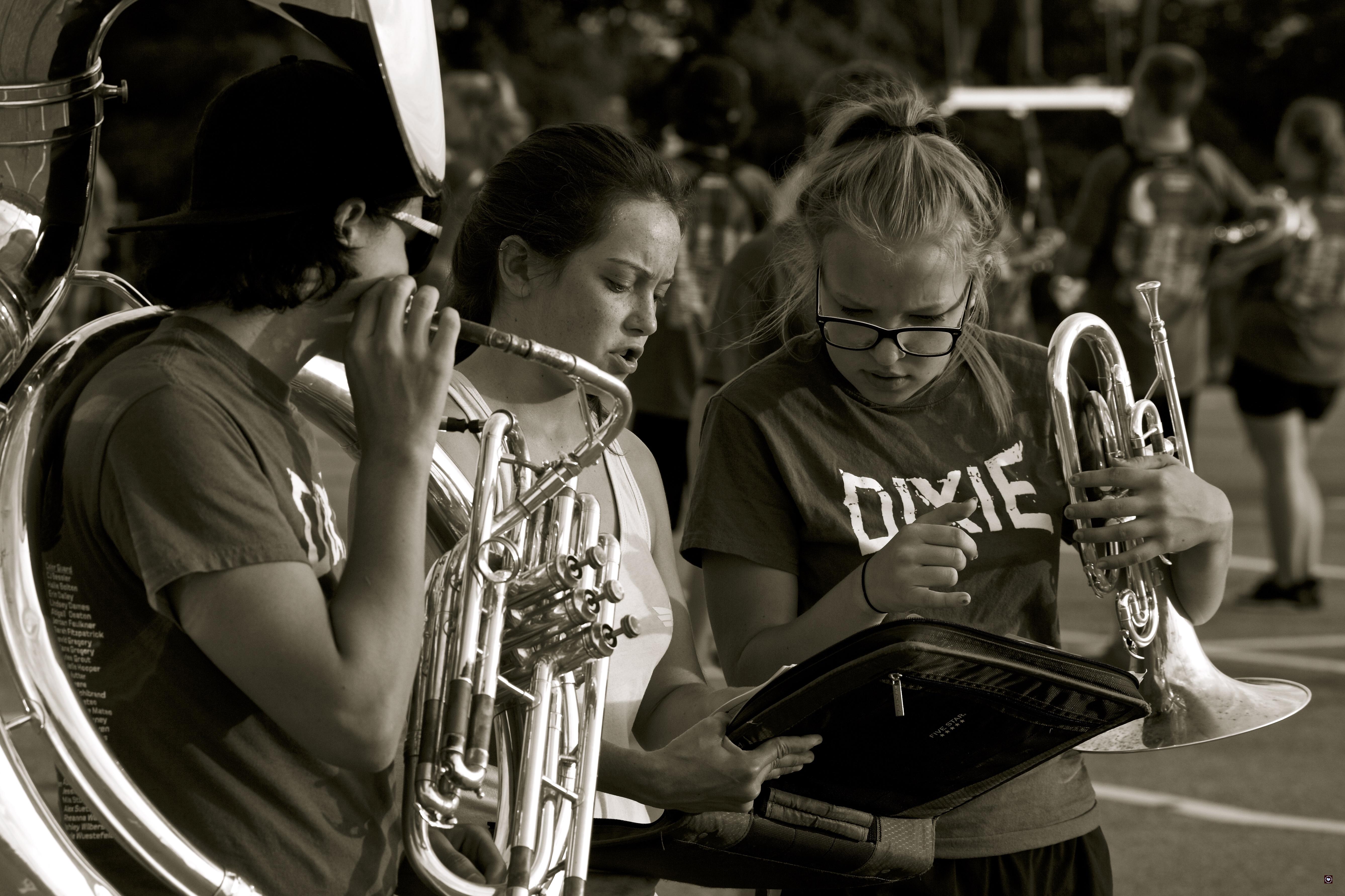 Dixie Band rehearsal Aug 14 & 15