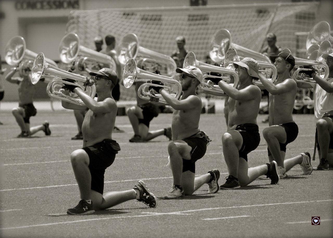 Madison Scouts rehearse in Northern Kentucky